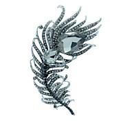 caída partido pluma broche pines brocha joyería del rhinestone de las mujeres (más colores)