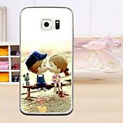 Para Funda Samsung Galaxy Carcasa Funda En Relieve Cubierta Trasera Funda Caricatura TPU para Samsung S6