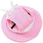 Gato Perro Bandanas y Sombreros Ropa para Perro Un Color Rojo Azul Rosa Raya Blanco/Rosa Tejido Disfraz Para mascotas Hombre Mujer