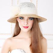여성 바구니 세공품 플랙스 투구-캐쥬얼 야외 모자 1개