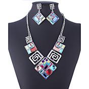 Mujer Piedra Preciosa y Cristal Piedras preciosas sintéticas Zirconia Cúbica Diamante Sintético Legierung Cuadrado Forma Geométrica Lujo