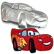 cuatro c molde molde forma del coche de deportes de aluminio para hornear, suministros para hornear para las tortas, hornear utensilios