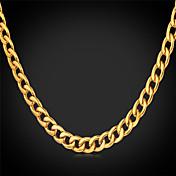 Hombre Moda Collares de cadena Collares Vintage Acero inoxidable Chapado en Oro Collares de cadena Collares Vintage , Boda Fiesta Diario