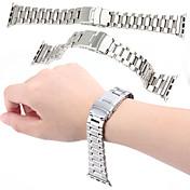 Reloj de la venda para el reloj de la manzana metal de acero inoxidable de 38 milímetros la hebilla de la mariposa substituye la venda