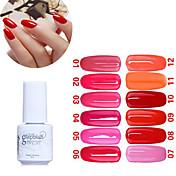 Gel UV para esmalte de uñas 5ML 1 Esmalte Gel UV de Color Empapa de Larga Duración