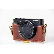 dengpin® PU lær kameraveske bag dekke med skulderstropp for Sony DSC-hx90v hx90 wx500 (assorterte farger)
