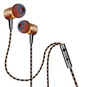 Plextone I øret Med ledning Hodetelefoner Aluminum Alloy Mobiltelefon øretelefon Med volumkontroll / Med mikrofon Headset