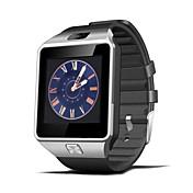 dz09 smartwatch reloj sim tarjeta ranura push mensaje android teléfono con cámara podómetro