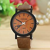 Hombre Reloj de Pulsera Reloj Madera Cuarzo Nailon Banda Múltiples Colores # 1 # 2 # 3 # 4