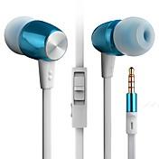 En el oido Con Cable Auriculares Aluminum Alloy Teléfono Móvil Auricular Con control de volumen Con Micrófono Aislamiento de ruido