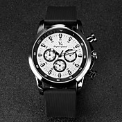 V6 Hombre Reloj de Pulsera Cuarzo Cuarzo Japonés Caucho Banda Negro