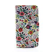 Para Funda Samsung Galaxy Cartera / Soporte de Coche / con Soporte / Flip Funda Cuerpo Entero Funda Flor Cuero Sintético SamsungS5 / S4 /