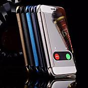 Funda Para Apple iPhone X iPhone 8 iPhone 6 iPhone 6 Plus con Ventana Espejo Funda de Cuerpo Entero Caricatura Dura Metal para iPhone X
