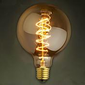 Barra de alambre e27 40w g125 bubble dragon edison filamento de lámpara decorativa retro