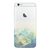 Til Etui iPhone 6 Etui iPhone 6 Plus Gjennomsiktig Mønster Etui Bakdeksel Etui Landskap Myk TPU til iPhone 6s Plus/6 Plus iPhone 6s/6