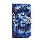 Etui Til Samsung Galaxy Samsung Galaxy Etui Kortholder Lommebok med stativ Flipp Heldekkende etui Katt PU Leather til S5 Mini S4 Mini S3