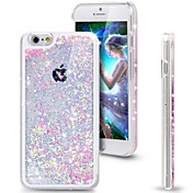 brillo fresco del corazón dinámico arenas movedizas claro caso duro de la cubierta líquida para el iphone 6 más / 6s más (colores