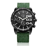 V6 Hombre Reloj de Pulsera Cuarzo Tejido Banda Negro Azul Rojo Verde