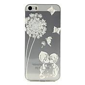 제품 아이폰5케이스 케이스 커버 패턴 뒷면 커버 케이스 민들레 소프트 TPU 용 iPhone SE/5s iPhone 5
