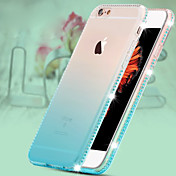 color de hielo de lujo giamond caja del teléfono material de TPU verde degradado para 6plus iphone / 6splus (color opcional)