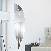 Former 3D Veggklistremerker Veggklistremerker i Speilstil Dekorative Mur Klistermærker, Vinyl Hjem Dekor Veggoverføringsbilde Vegg
