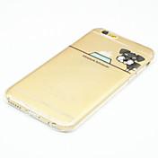 용 아이폰6케이스 / 아이폰6플러스 케이스 울트라 씬 / 투명 / 패턴 케이스 뒷면 커버 케이스 애플로고 관련 소프트 TPU iPhone 6s Plus/6 Plus / iPhone 6s/6