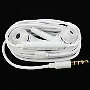 auriculares estéreo de alta calidad en la oreja del auricular del metal auriculares manos libres con micrófono 3.5mm auriculares para