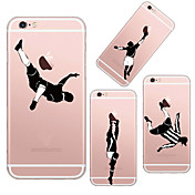 Funda Para Apple iPhone 6 iPhone 6 Plus Transparente Diseños Funda Trasera Logo Playing With Apple Suave TPU para iPhone 6s Plus iPhone