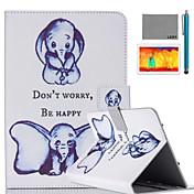 lexy® liten elefant mønster PU lær flip stå tilfellet med skjermbeskytter og stylus for ipad luft 2 / ipad 6
