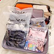 Travel Pakkeorganiserer Vanntett Reiseoppbevaring Plast