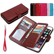 cuero de la PU 2 en 1 cajas del teléfono desmontables y la espalda cubierta de la cáscara protectora con la cartera 9 Ranura para tarjeta