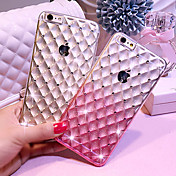 deje caer la caja de lujo del diamante TPU transparente de silicona teléfono estrellado de gradiente para el iphone 6 más / 6s más