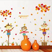 Halloween / Novedad / Caricaturas-Colores Aleatorios-Plástico-Adhesivo de Pared-