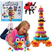 새로운 bunchems 좋은 패키지 새로운 건물 장난감 370 조각 DIY 아이들은 36 액세서리 키트 어린이들에게 최고의 선물을 재생