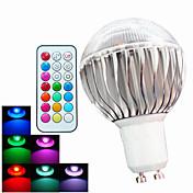 400 lm GU10 LED-globepærer A60(A19) 3 leds Høyeffekts-LED Mulighet for demping Dekorativ Fjernstyrt RGB AC 100-240V