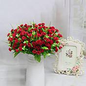 7 hoder høy kvalitet lilla blomster silke blomst silke blomst kunstige blomster til hjemmet dekorasjon 1pc / sett