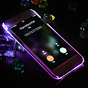 Funda Para Apple iPhone 6 iPhone 6 Plus Linterna LED Funda Trasera Color sólido Dura ordenador personal para iPhone 6s Plus iPhone 6s