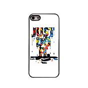 Para Funda iPhone 5 Carcasa Funda Diseños Cubierta Trasera Funda Palabra / Frase Dura Policarbonato para iPhone SE/5s iPhone 5