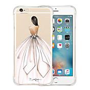 Funda Para Apple iPhone 6 iPhone 6 Plus Antigolpes Transparente Diseños Funda Trasera Chica Sexy Suave Silicona para iPhone 6s Plus