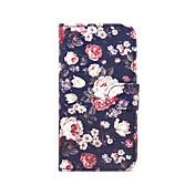 Para Samsung Galaxy S7 Edge Cartera / Soporte de Coche / con Soporte / Flip Funda Cuerpo Entero Funda Flor Cuero Sintético SamsungS7 edge