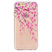 Para iPhone 6 iPhone 6 Plus Carcasa Funda Diseños En Relieve Cubierta Trasera Funda Flor Suave TPU para iPhone 6s Plus iPhone 6 Plus