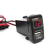 bil 5v 2.1a usb port dashbord voltmeter mobiltelefon lader for toyota vigo utmerket