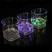 Glass LED emisor de luz de la inducción de agua de colores cuarteto taza taza de color