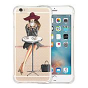 Funda Para Apple iPhone X iPhone 8 iPhone 6 iPhone 6 Plus Antigolpes Transparente Diseños Funda Trasera Chica Sexy Suave Silicona para