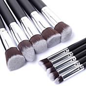 10pcs Pinceles de maquillaje Profesional Sistemas de cepillo / Cepillo para Colorete / Pincel para Sombra de Ojos Pincel de Nylon