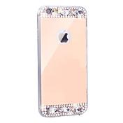 케이스 제품 iPhone 6 iPhone 6 Plus 크리스탈 도금 거울 뒷면 커버 한 색상 소프트 TPU 용 iPhone 6s Plus iPhone 6 Plus iPhone 6s 아이폰 6