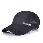 Casquillo Sombrero Viseras Primavera Verano Secado rápido Camping y senderismo Pesca Escalada Running Hombre Malla Color sólido