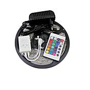 ZDM® 5 m Sets de Luces 150 LED 5050 SMD 1 Controlador remoto de 24 teclas / 1 x 12V 3A adaptador RGB Conectable 12 V 1 juego