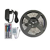 5m rgb 150x5050 SMD llevó la tira de luz y control remoto 44key y nos 3a fuente de alimentación (AC110-240V)