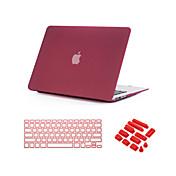 """3 en 1 arenas movedizas caso mate con la cubierta del teclado y el enchufe del polvo para el MacBook Pro de 13 """"/ 15 '' con la retina"""
